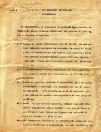 Carta Ministro do Interior - 1ª parte