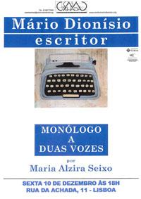Mário Dionísio, escritor - Monólogo a duas vozes